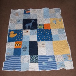 Cole's Baby Clothes Quilt