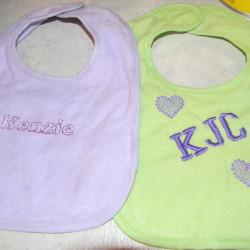 Kenzie's bibs