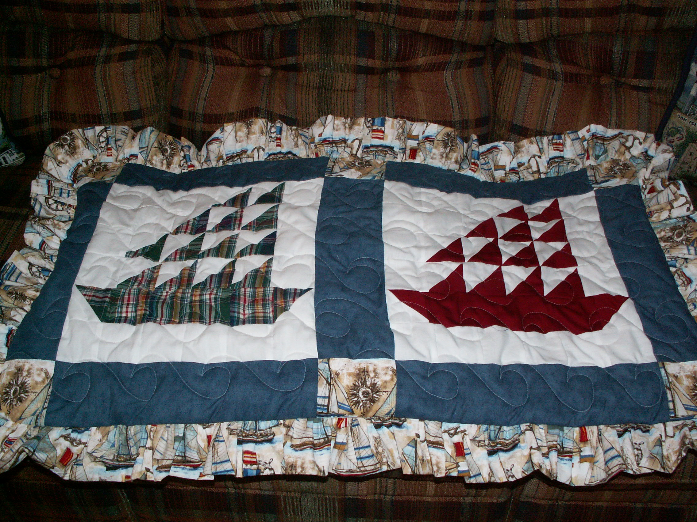 Sailboat Shirts Pillow Shams